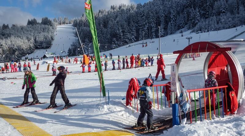 classe de neige dans les Vosges Espace Débutant